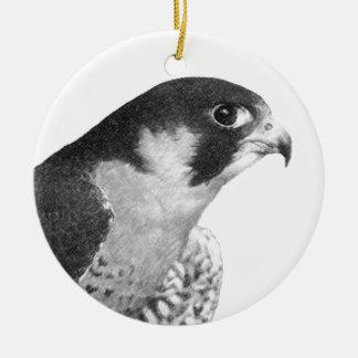 Peregrine Falcon-Pencil Ceramic Ornament