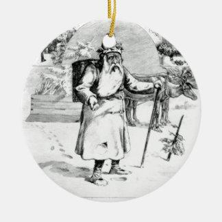 Perenoel Round Ceramic Ornament