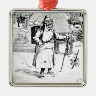 Perenoel Silver-Colored Square Ornament