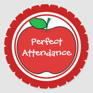 perfect attendance sticker