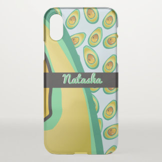 Perfect Avocado pattern iPhone X Case