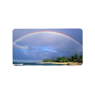 Perfect Beach Rainbow mailing label