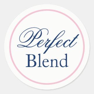 """Perfect Blend"" Wedding Sticker - Blush Pink/Navy"