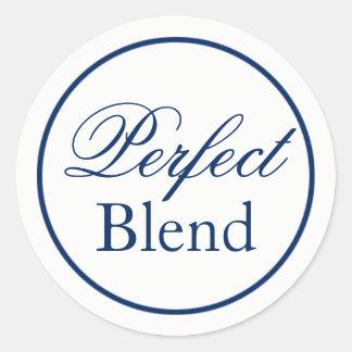 """Perfect Blend"" Wedding Sticker - Navy"