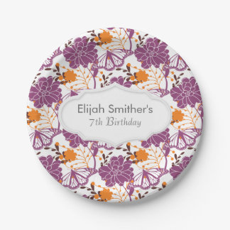 Perfect Blooms and Butterflies Paper Plate
