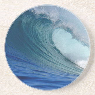Perfect blue ocean surfing wave coaster