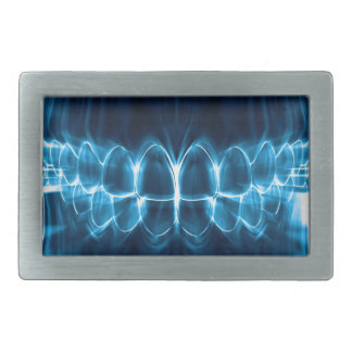 Perfect Blue Teeth Smile Dentist Belt Buckle