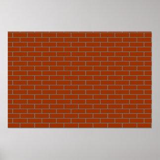 perfect brick wall poster