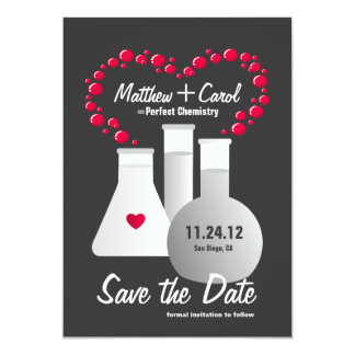 Perfect Chemistry Save The Date Card