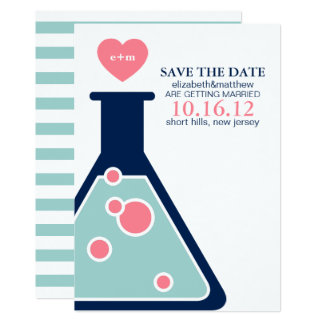 Perfect Chemistry Wedding Save the Date Card