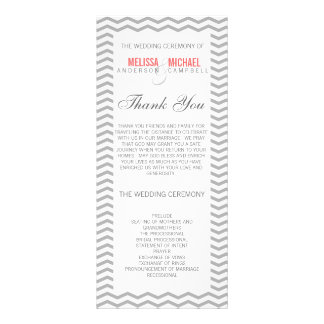 Perfect Chevron/Zig Zag Wedding Program