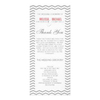 Perfect Chevron Zig Zag Wedding Program Custom Rack Cards