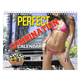 Perfect Combination Cars & Girls  Calendar
