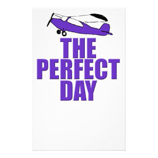 perfect day airplane stationery