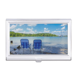 Perfect Day At The Lake Business Card Holder