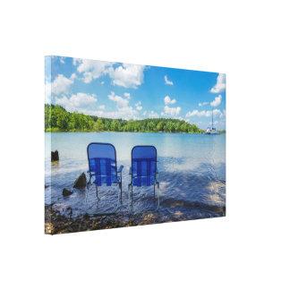 Perfect Day At The Lake Canvas Print