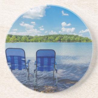 Perfect Day At The Lake Coasters