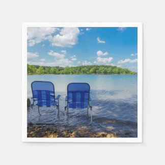 Perfect Day At The Lake Disposable Napkins
