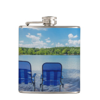 Perfect Day At The Lake Hip Flask