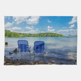 Perfect Day At The Lake Kitchen Towel