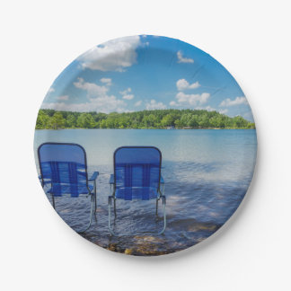 Perfect Day At The Lake Paper Plate