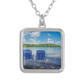 Perfect Day At The Lake Silver Plated Necklace