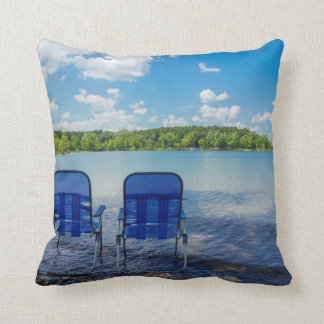 Perfect Day At The Lake Throw Pillow