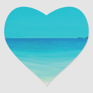 Perfect day (longrock beach Marizion) Heart Sticker