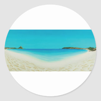 Perfect day (longrock beach Marizion) Round Sticker