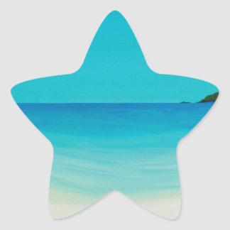 Perfect day (longrock beach Marizion) Star Sticker