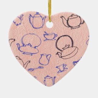 Perfect days ceramic heart ornament