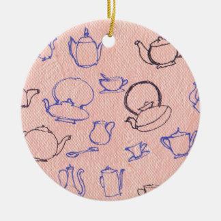 Perfect days round ceramic ornament