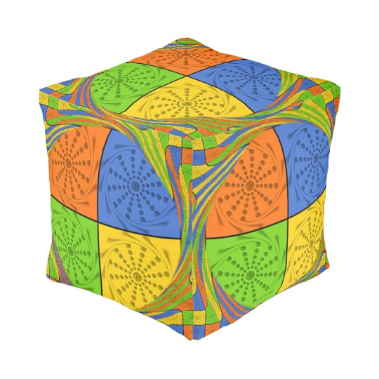 Perfect Decorative Colourful  Pattern Repeat Pouf