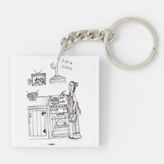 Perfect Farm Wife Keyring Double-Sided Square Acrylic Keychain
