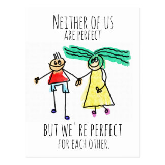 Perfect For Each Other Postcard