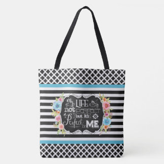 Perfect for Me Personalized Lg Tote (Black)