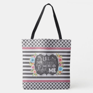Perfect for Me Personalized Lg Tote (Gray)