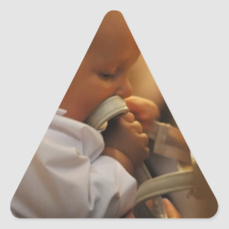 Perfect for special occasions such Baptisms Triangle Sticker