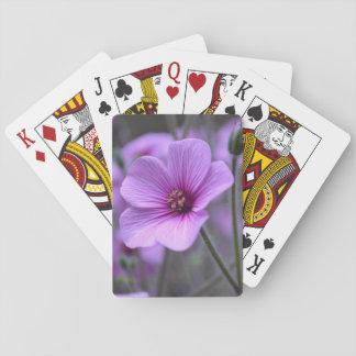 Perfect Geranium Poker Deck