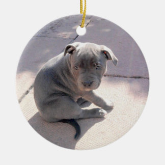 Perfect gift for the staffordshire bull terrier lo round ceramic ornament