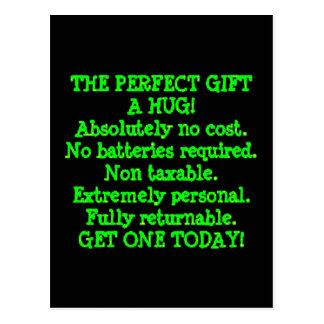 Perfect Gift is a Hug Postcard
