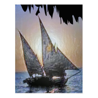 Perfect Gift:  Sail Voyage Trip Postcard