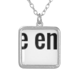 """Perfect is the Enemy of Done."" ~James Hawkins Silver Plated Necklace"