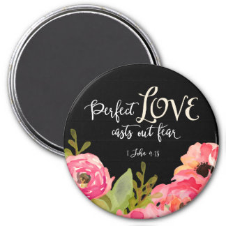 """Perfect Love 3"""" Round Magnet"""