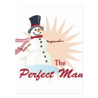 Perfect Man Postcard