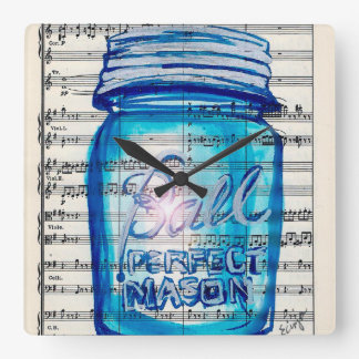 Perfect Mason Jar Wall Clock