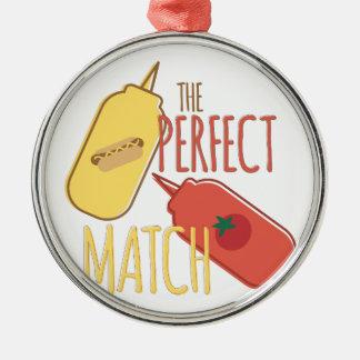 Perfect Match Silver-Colored Round Ornament