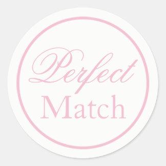 """""""Perfect Match"""" Wedding Sticker Blush Pink"""