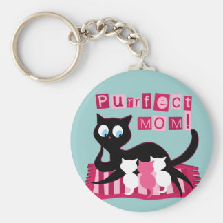 Perfect Mom Mother's Day Basic Round Button Keychain