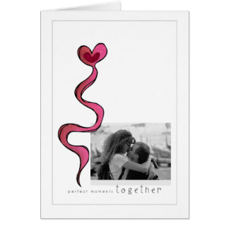 perfect moments together greeting card